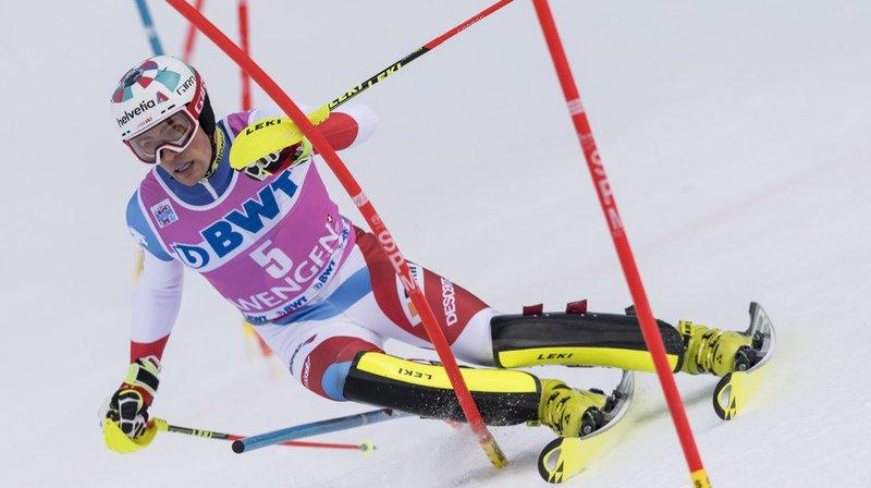 Ski alpin: Daniel Yule 5e du slalom de Wengen, le jeune Français Clément Noël s'impose