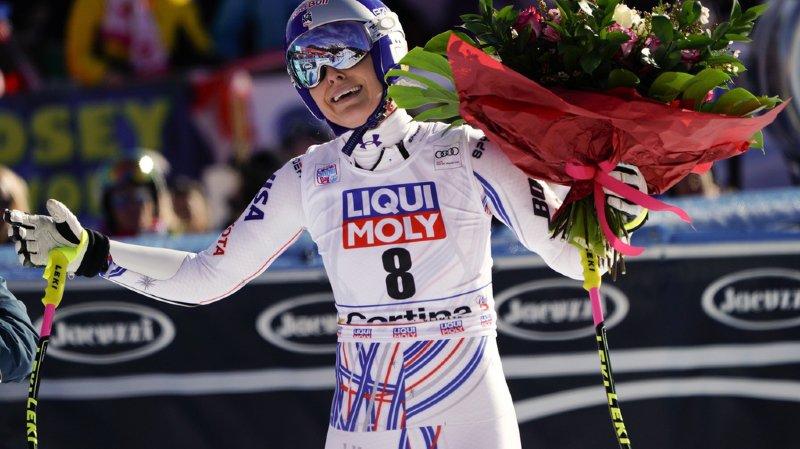 Légende du ski féminin, Lindsey Vonn a été ovationnée dans l'aire d'arrivée. On a peut-être assisté à ses adieux.