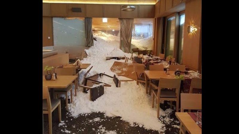 Appenzell: une avalanche ravage le restaurant d'un hôtel, trois blessés