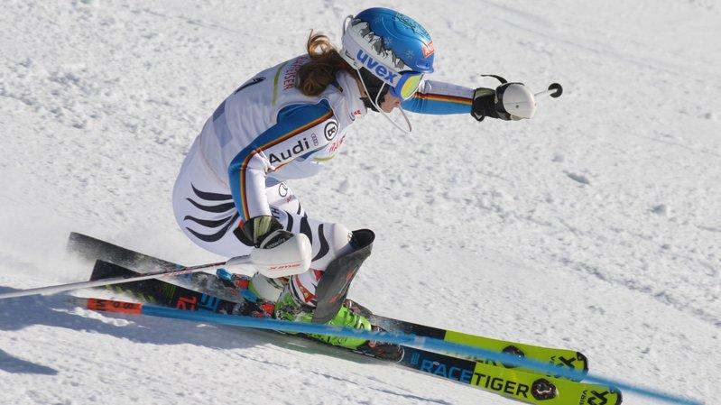 Anna Violon a dû se battre au milieu des piquets. Le slalom reste un exercice qu'elle n'apprécie guère.