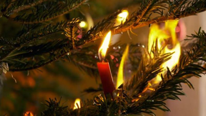 L'incendie a vraisemblablement été provoqué par de vraies bougies (illustration).