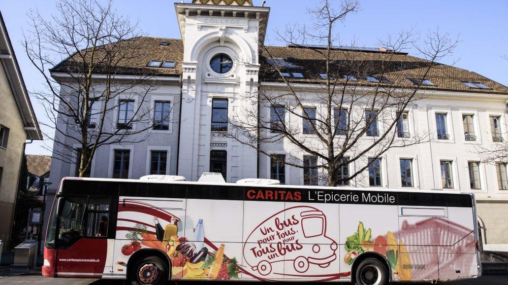 Le bus Caritas faisait une tournée hebdomadaire à Morges.