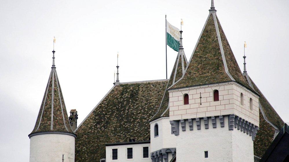 Comme tous les 24 janvier, le drapeau vaudois flotte sur le château de Nyon.
