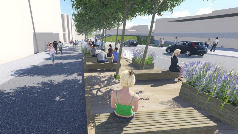 La place de la Gare devrait présenter un nouveau visage en juin.