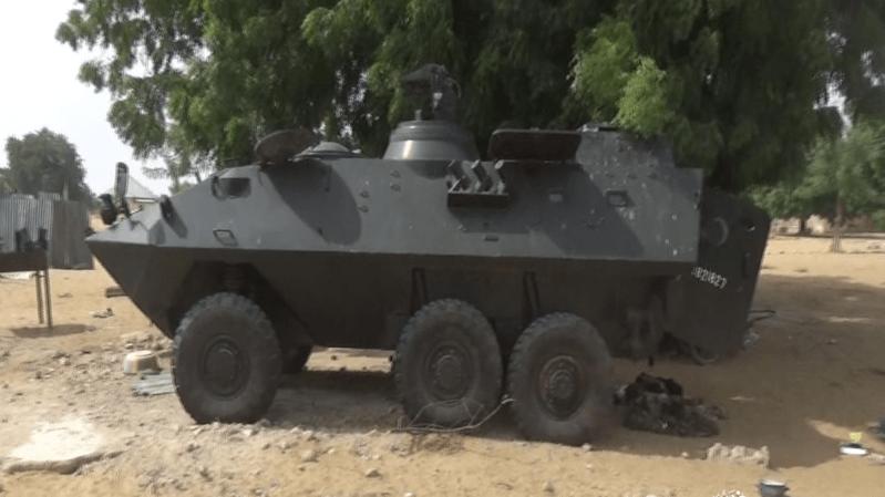 Une faction du groupe terroriste Boko Harama au Nigeria a exhibé ce Piranha I, un char suisse datant de plus de trente années.