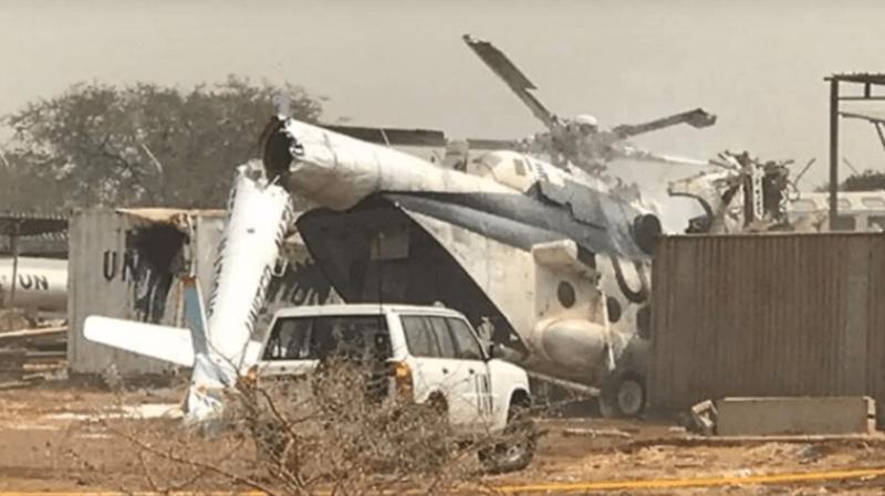 Soudan: trois personnes décèdent dans le crash d'un hélicoptère de l'ONU