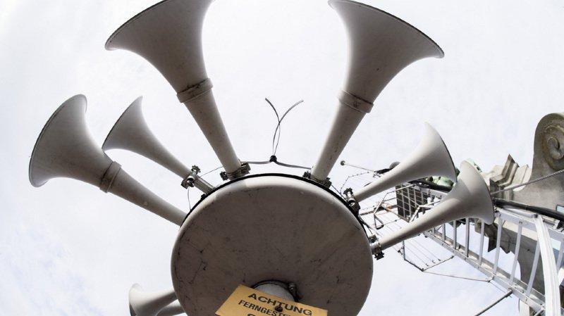 Test des sirènes: 98% d'entre elles ont fonctionné de manière irréprochable
