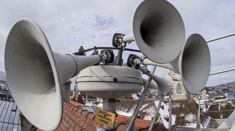 Test des sirènes prévu dans toute la Suisse ce mercredi