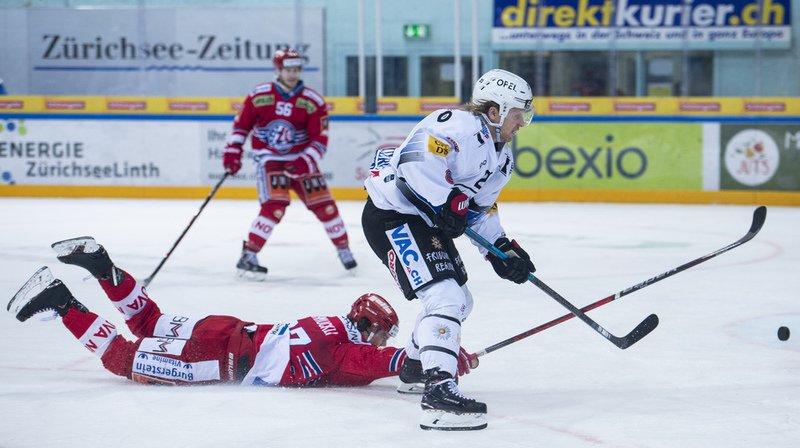 Hockey: Gottéron s'incline face à la lanterne rouge Rapperswil, Servette battu en prolongation par Ambri