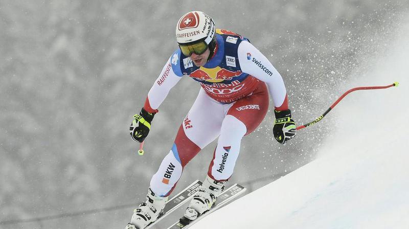 La prestation impériale de Beat Feuz n'a pas suffi. Le Bernois était parti en septième position lors de la descente de Kitzbühel.