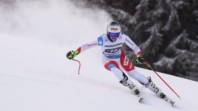 Ski alpin: Corinne Suter a le podium de la descente de Garmisch dans le viseur