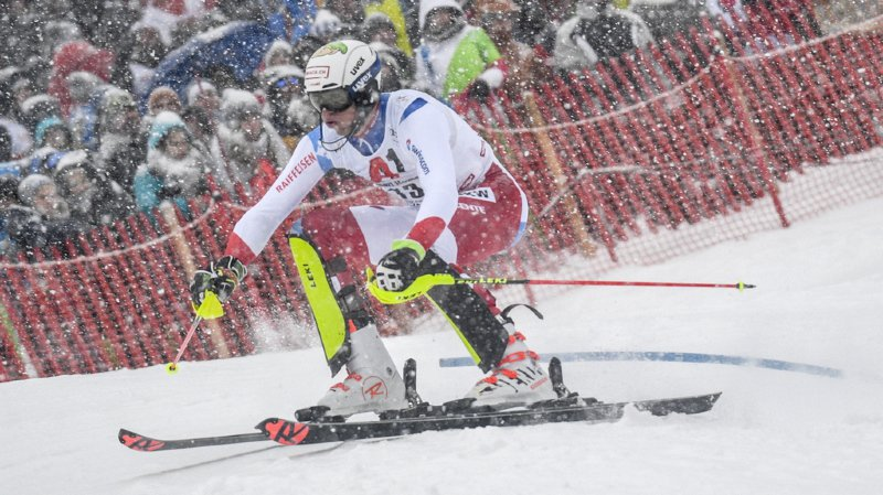 Ski alpin: Ramon Zenhäusern craque lors de la 2e manche et termine 6e du slalom de Kitzbühel