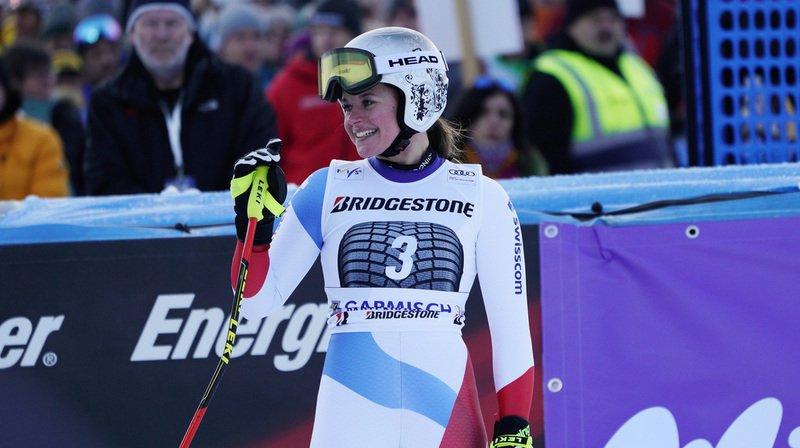 Ski alpin: Suter au pied du podium de la descente de Garmisch, l'Autrichienne Venier l'emporte
