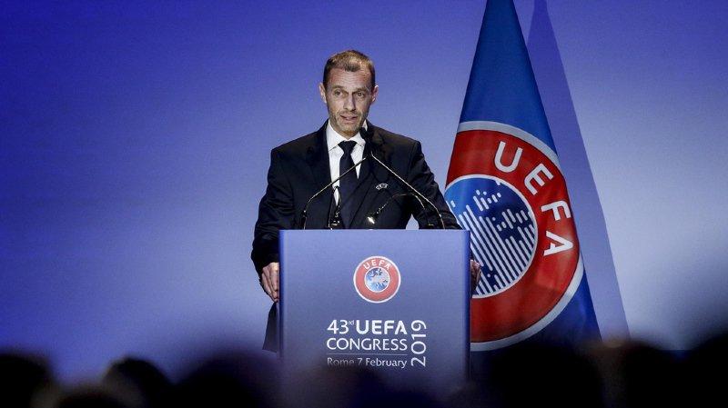 Football: le Slovène Aleksander Ceferin réélu président de l'UEFA