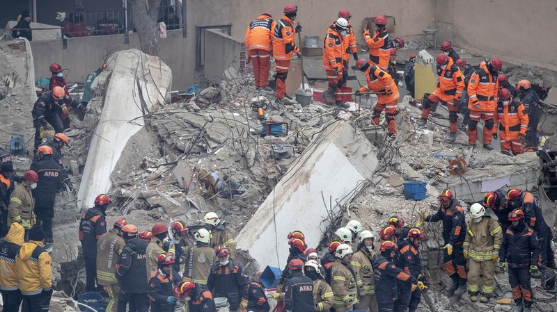 Recep Tayyip Erdogan s'est rendu sur le lieu du sinistre, où les opérations de secours se poursuivaient encore.
