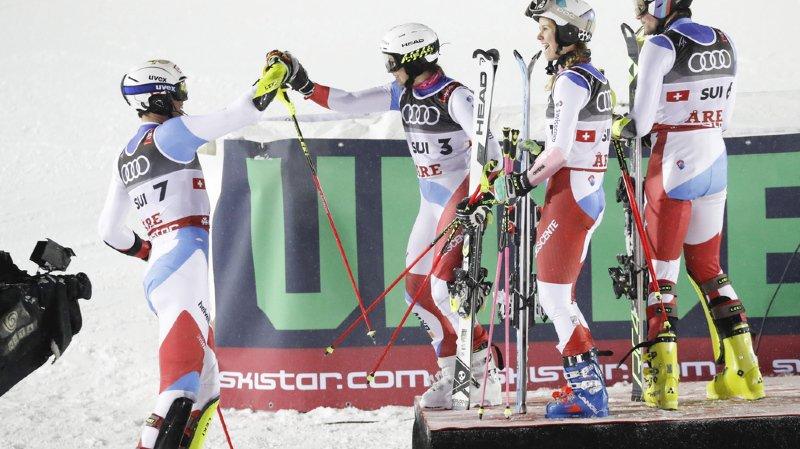 Ski alpin – Mondiaux d'Are: portée par Ramon Zenhäusern, la Suisse remporte la médaille d'or du Team Event