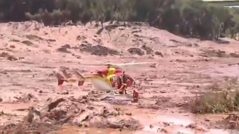 La rupture d'un barrage minier au Brésil fait «plusieurs morts» et au moins 200 disparus