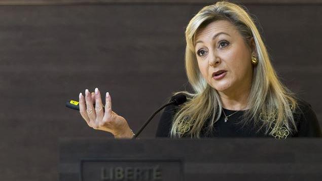 Nuria Gorrite a exposé la vision du canton.