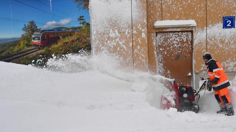 Près de 1000 élèves en congé et des trains en galère à cause de la neige