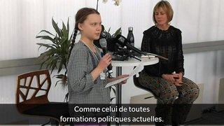 WEF 2019: la jeune activiste Greta Thunberg a pris la parole à Davos