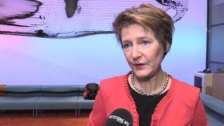 Votations fédérales: Sommaruga réagit au rejet de l'initiative contre le mitage
