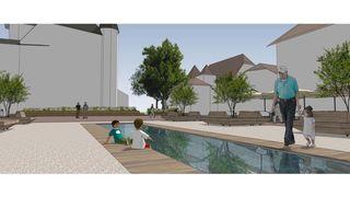 Nyon: un bassin à couvercle amovible pour la place du Château
