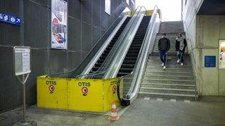 Escalators du Nyon-Saint-Cergue inutilisables: pourquoi rien ne bouge?
