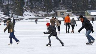 Le lac de Joux partiellement ouvert à la marche et au patinage
