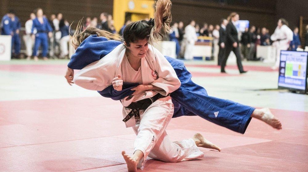 Samedi, Priscilla Morand (Kimono Blanc) a été d'une aide précieuse pour les Morgiennes en remportant tous ces combats.