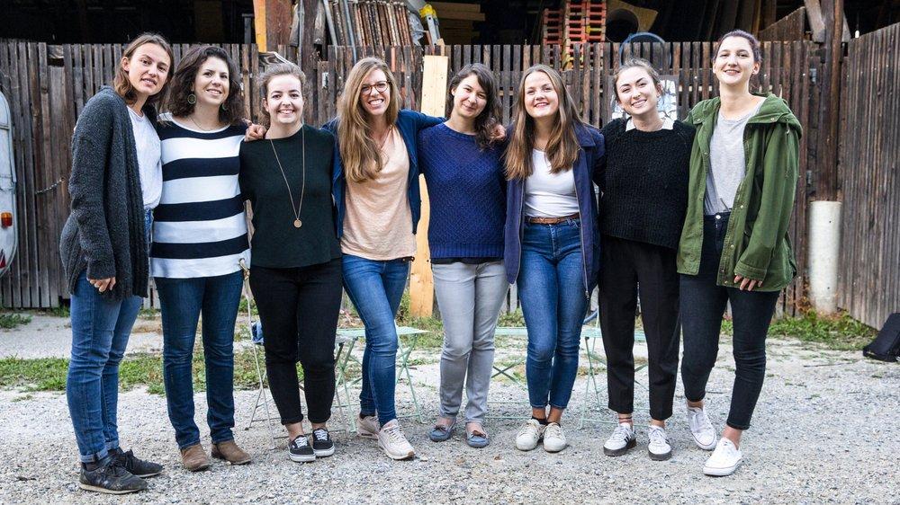 """Les membres de l'association au moment du lancement du projet """"Le Locale"""" en octobre 2018."""