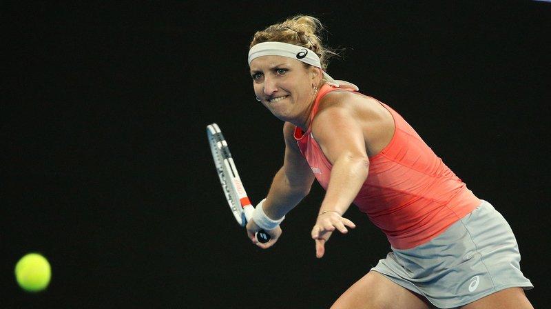 Timea Bacsinszky a cueilli son troisième succès d'affilée face à Kristina Mladenovic au second tour du Tournoi d'Indian Wells. (Archives)