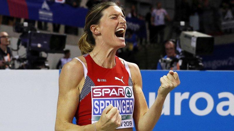 À Glasgow, Lea Sprunger a doublé son bonheur