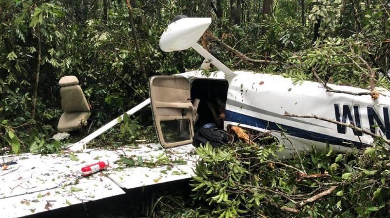 L'avion s'est abîmé en forêt pour une cause encore inconnue.
