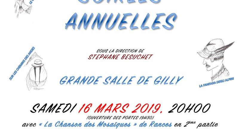 Soirées annuelles du Choeur d'hommes de Gilly