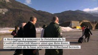 Les F/A-18 présentés au président bulgare