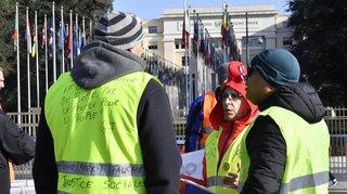 Les gilets jaunes venus à Genève veulent des observateurs de l'ONU