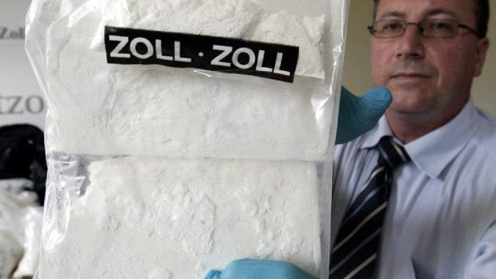 Un paquet de cocaïne saisi par les douanes.