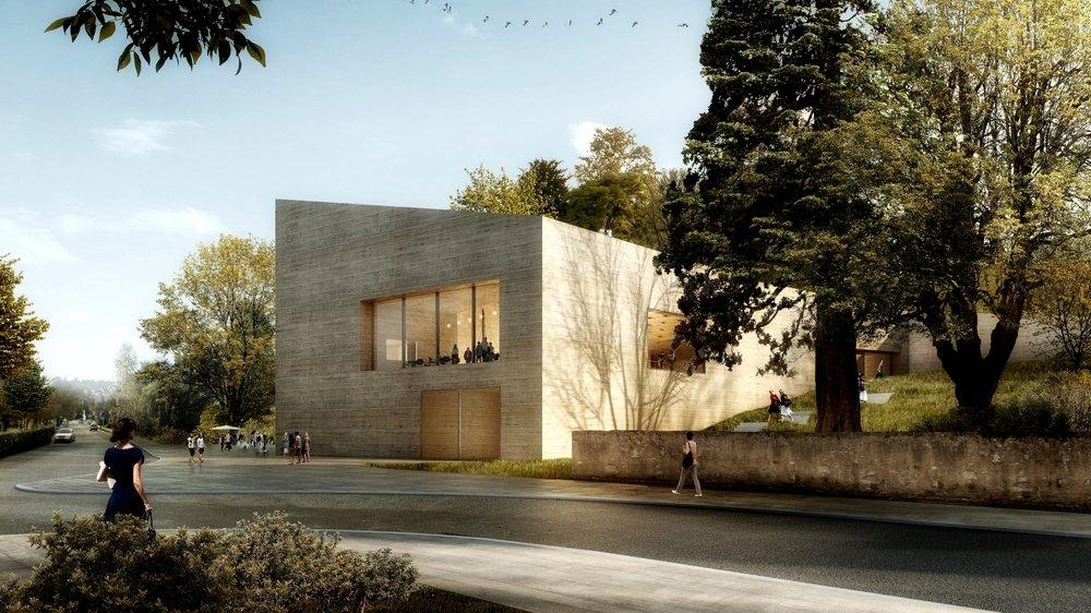 Le projet d'extension du Musée du Léman dérange les propriétaires de la maison voisine (juste dehors de l'image à droite). Ceux-ci viennent de voir leur recours rejeté par les juges cantonaux.