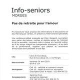 Info-seniors - Pas de retraite pour l'amour