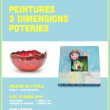 Exposition de peintures en 3 dimensions et poteries