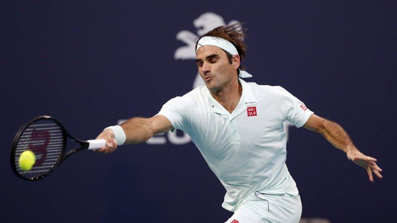 Tennis : Federer se qualifie avec brio pour les 8es de finale du tournoi de Miami