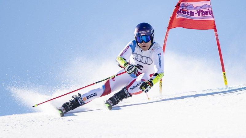 Ski alpin - Championnats suisses: le St-Gallois Cédric Noger devance Loïc Meillard en géant
