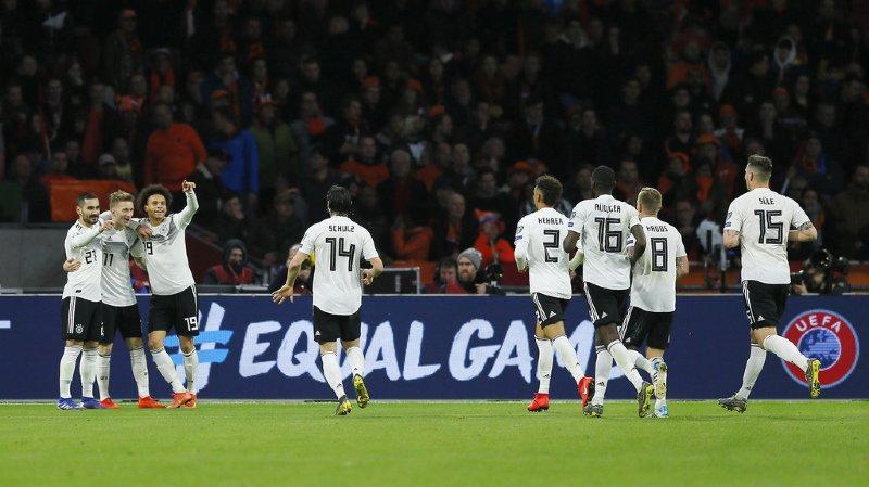 La Mannschaft a inscrit le but décisif à la 90e minute par Nico Schulz, 4ème en partant de la gauche.