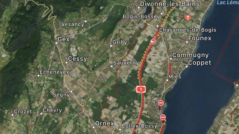 Le réseau routier entre Genève et Nyon est surchargé.