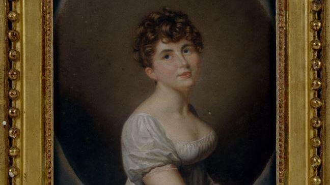 Caroline Butini en 1807, huile sur toile du peintre genevois Firmin Massot.