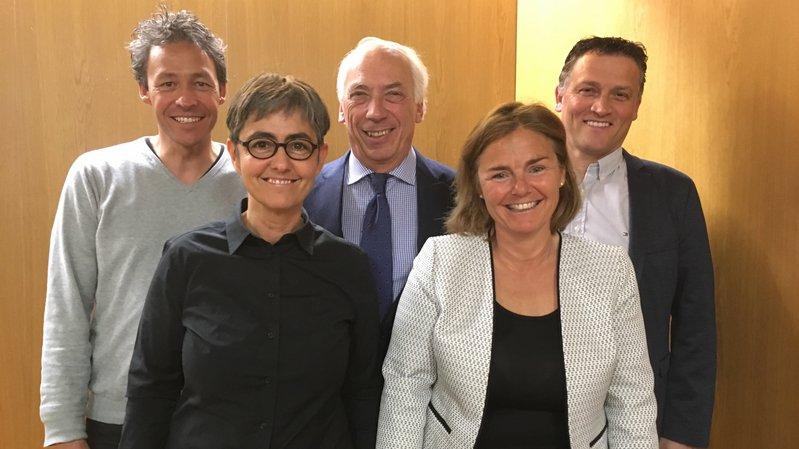 La Municipalité de Saint-Prex au complet avec, de gauche à droite: Anthony Hennard, Véronique Savioz, Daniel Mosini, Carine Tinguely et Stéphane Porzi.