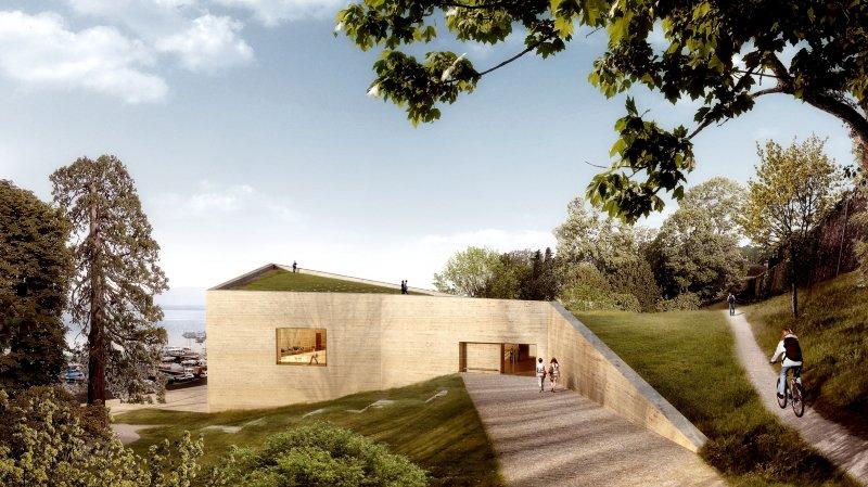 La vue du futur musée depuis le petit parc au bord duquel se situe la propriété de l'opposant débouté.