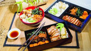 Boîte Bento au bœuf sésame, riz et légumes croquants