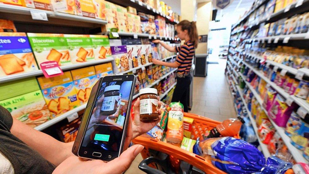 Les applications  au supermarché
