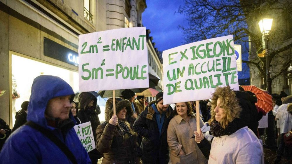 Le 3 décembre, les manifestants s'étaient réunis à Nyon pour s'opposer au nouveau cadre parascolaire.